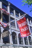 Durgin Park's flag flies in Quincy Market