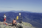 Hikers rest on Mt Lafayette