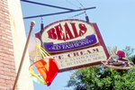 Beals Ice Cream sign in the Old Port