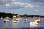 Several fishing boats moored in Cundy's Harbor, Maine