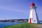 Mulholland Light on Campobello Island, New Brunswick, Canada with Lubec in the background