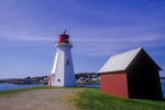 Mulholland Light on Campobello Island, New Brunswick, Canada and a red building