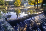 Early morning at an old New England mill pond