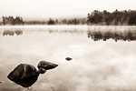 Black and white toned image of Tully Lake