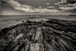 Pemaquid Point in black and white