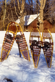 Snowshoes stuck in the snow