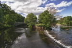 Stone Arch Bridge over the Blackstone Canal