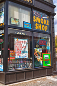 Tony's News store front in downtown Worcester, MA