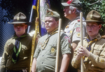 Boy Scouts at the Calvin Coolidge homestead in Plymouth, VT