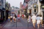 People enjoying Newport, RI