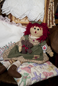 Hand made raggedy ann doll