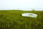 Rowboat in marsh grass