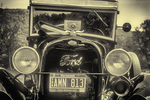 Ford Model A in Black and White