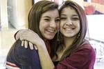 Two teenage girl friends