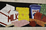 Mural on the wall of a cafeteria