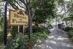 Entrance to the Bridge of Flowers in Shelburne Falls, MA