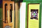 Colorful doors in Wellfleet, MA