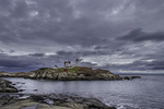 Nubble Light with a stormy sky