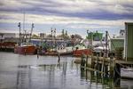 Fishing boats docked in Gloucester Harbor