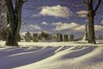 Phillipston's Upper Cemetary in the winter