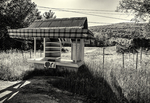 An abandoned farm stand
