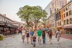 People walking in Quincy Market, Boston, MA