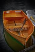 Orange rowboat