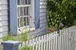 House and picket fence in Rockport, MA