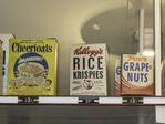 Old Cereal boxes in The Little Corner Store at Strawberry Banke, Portsmouth, NH