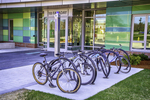 Bicycles at a Worcester Polytech dorm