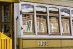 Reflection in a trolley car's window