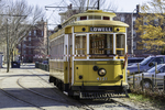 A trolley car at the Lowell National Parki