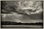 Storm approaching over a meadow in Amherst, MA