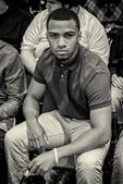 Young man looking at the camera