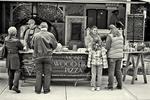 Ordering food at a food cart
