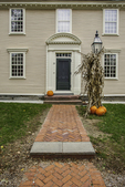 House in Old Deerfield in the fall