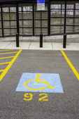 Handicapped parking space at an MBTA station