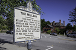 Sign showing where the Milldam once was in Concord, MA