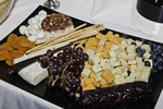 Food on a platter for party guests