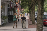 People walking down main Street in Stockbridge, MA