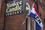 Open flag at Yankee Candle Store in Stockbridge, MA