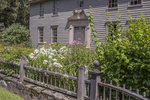 Flowers growing in front of the Mission House in  Stockbridge, MA