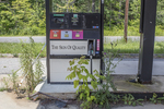 Gas pump at a closed gas station in Stockbridge, MA