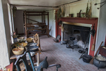 Interior of the Slvanus Brown farm house at the Slater Mill Historic Site