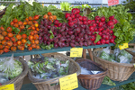 Fresh vegetables at a farmer's market in Great Barrington, MA