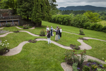 Garden docent giving a group tour of the gardens at Naumkeag in Stockbridge, MA #2