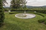Fountain in the garden at Naumkeag, a Trustees of Reservations property in Stockbridge, MA