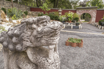 An animal sculpture in the Chinese Garden at Naumkeag, a Trustees of Reservations property in Stockbridge, MA