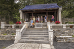 The Chinese style temple in the Chinese Garden at Naumkeag, a Trustees of Reservations property in Stockbridge, MA