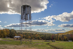 Vertical wind turbine to generate electricity on this Massachusetts farm